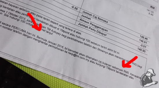 Bil Bercetak TM-Streamyx Dicaj RM5 Sebulan Mulai 2016