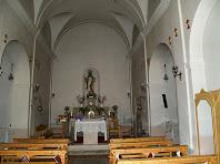 Interior de l'església de Sant Salvador