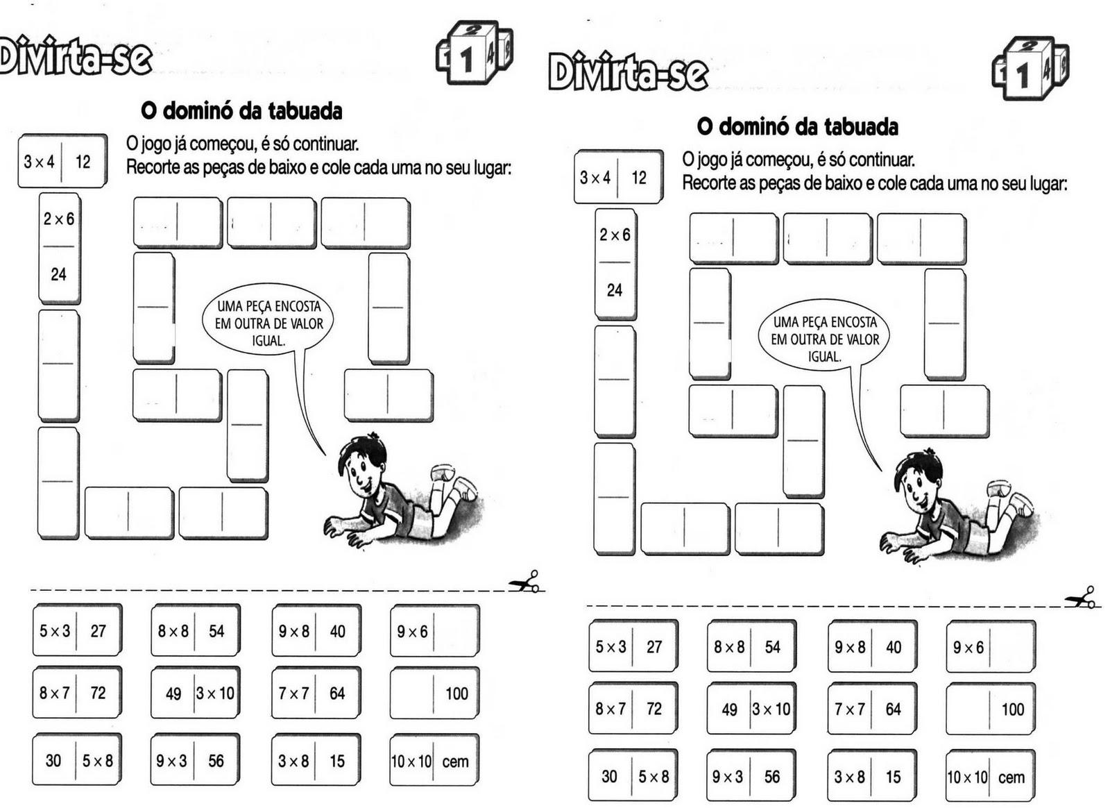 Jogos de Matemática tabuada