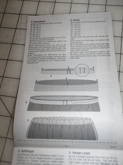 left slits at the bottom of the sideseams. The pattern instructs to