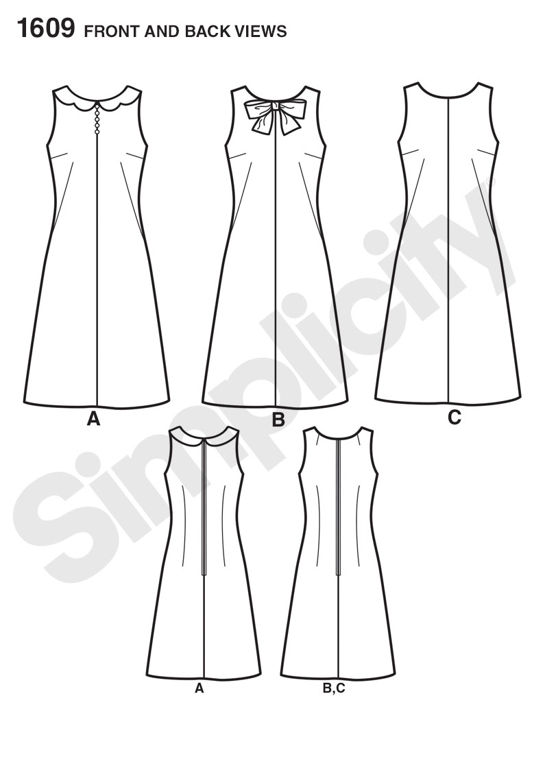 free shift dress pattern pdf