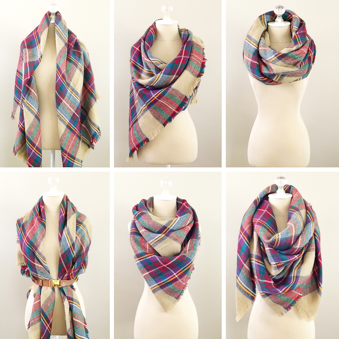 Stylish Petite | Fashion, Lifestyle, Travel and Home Decor Site: 6 Ways To Wear A Blanket Scarf ...