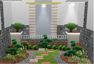 desain rumah modern: desain taman rumah minimalis