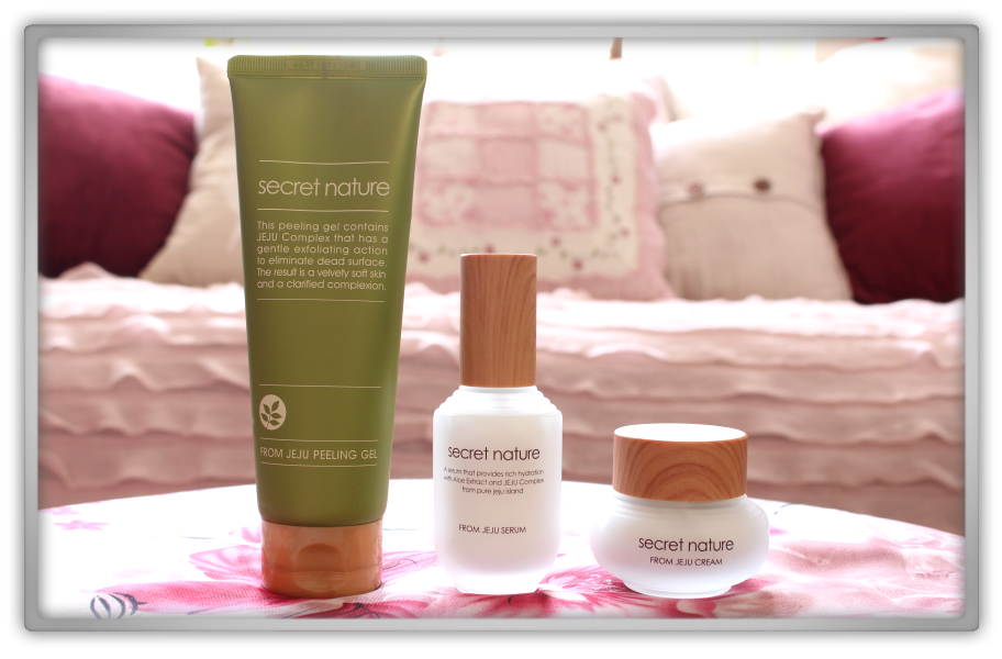 Secret Nature From Jeju products Haul Review preview honest pink korean cosmetics skincare asian flowers memebox jolse
