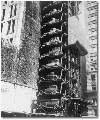 Almacén de coches en Chicago años 30