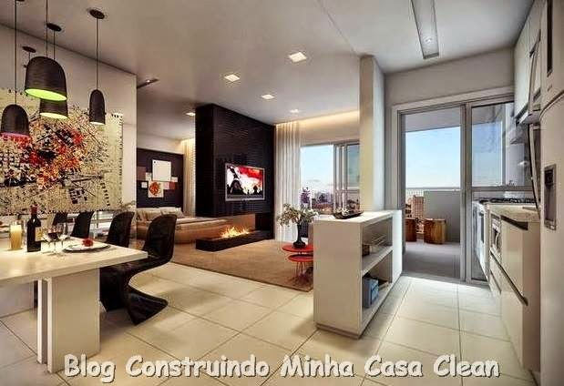 Sala De Estar Kawaii ~ sala de estar jantar e cozinha integradas pequenas sala de estar