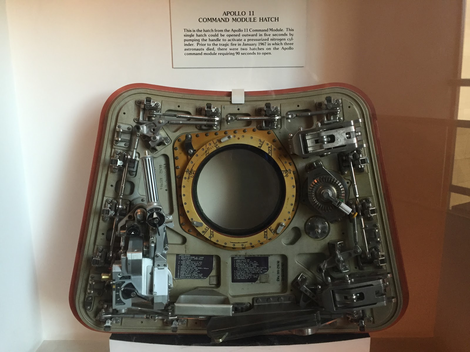 apollo 11 hatch door