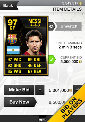 FUT 13 iOS App - Bid On Players - FIFA 13 Ultimate Team