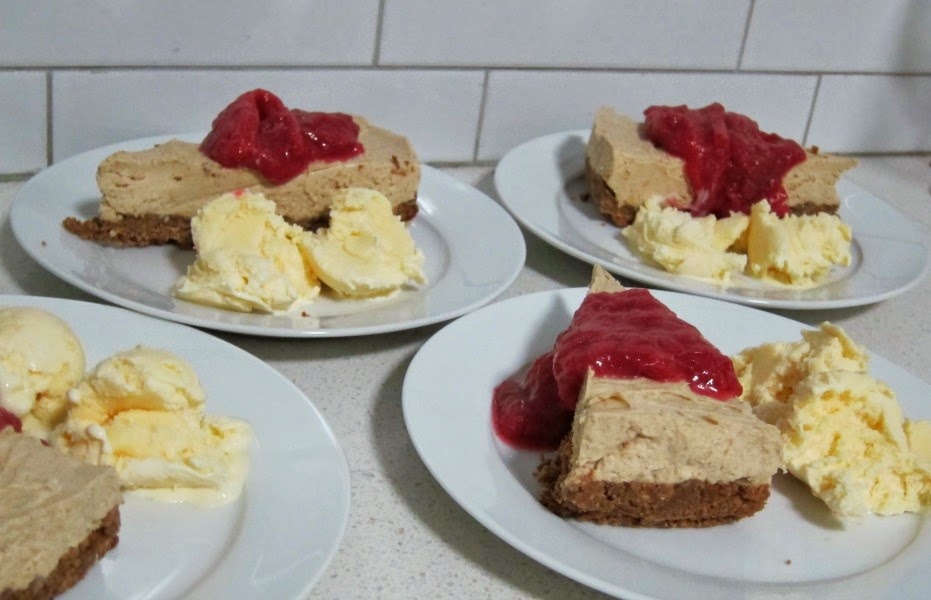 chai-spice cheesecake with rhubarb compote recipe gelatin-free