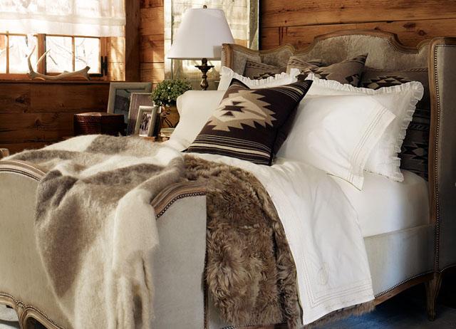 decoracion dormitorio rustico chic-vestir cama
