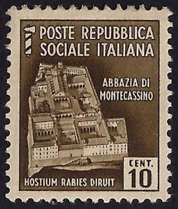 Francobollo delle Poste Repubblica Sociale Italiana