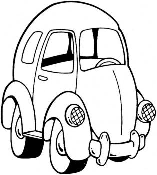 Cute Car Colorig Pages