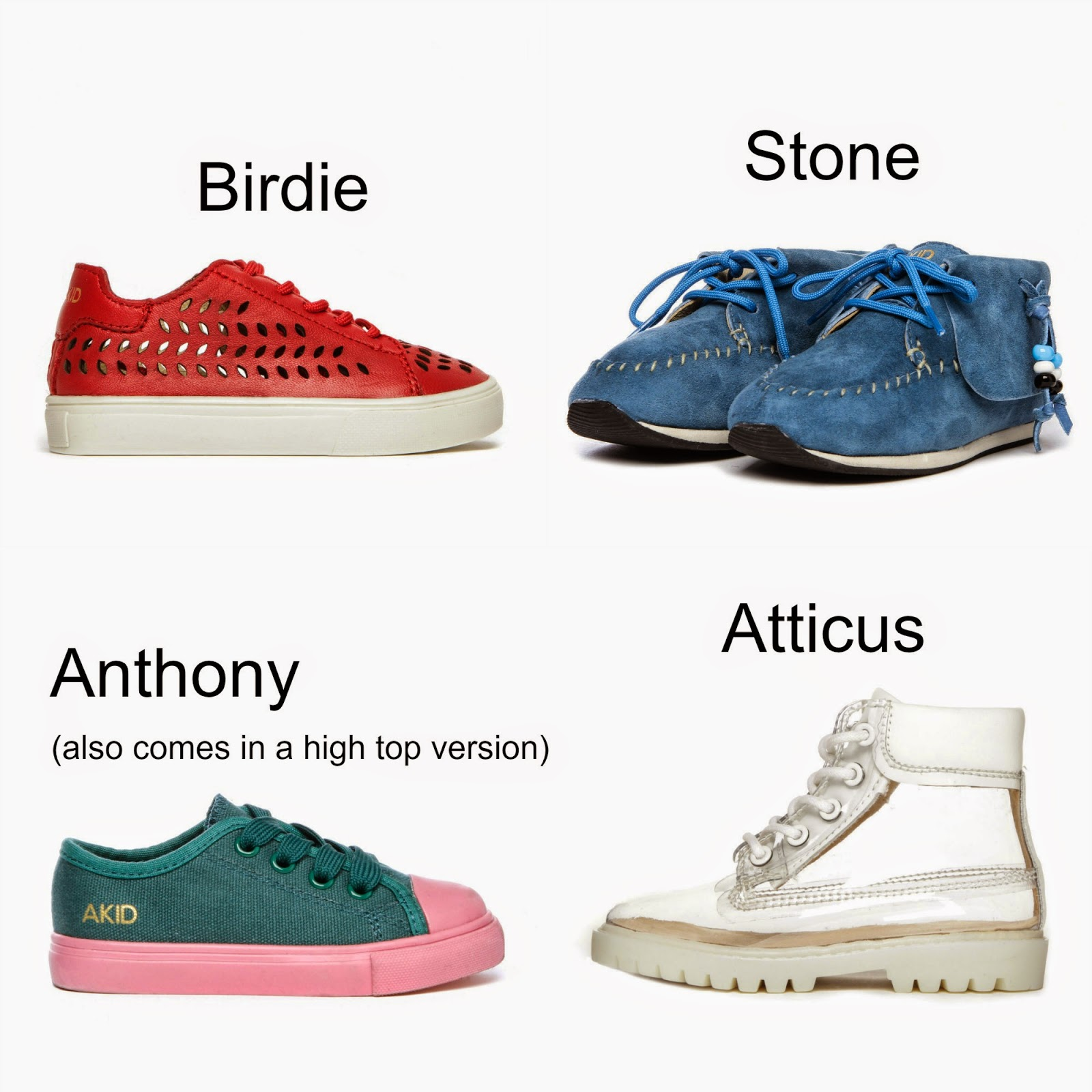 AKID - the kids shoes that get an A+ for fashion and function! | AKID | kids shoes | cool shoes for boys and girls | unisex shoes | trendy brands fashionable shoes for kids | ashleigh dumpster | matt george | nomad | good foot | la couple | designer shoes for kids | mamasVIB | brand | new launch | new collection | acid | acid shoes | stussy |