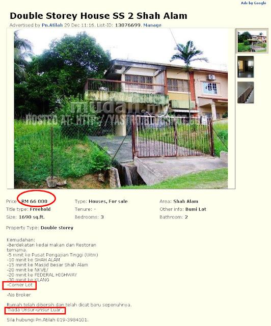 rumah murah di Shah Alam