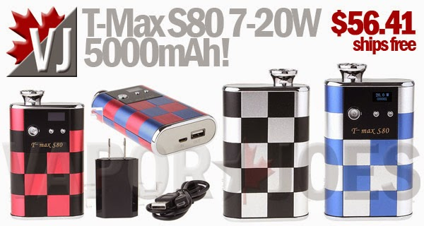 T-Max S80 Regulated Mod with 7-20W and 5000mAh!
