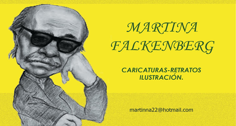 Martina Falkenberg: Retratos y Caricaturas. Caricaturista en Eventos.