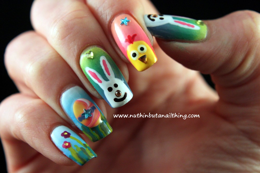 Easter flower nail design peace love lacquer easter nail art art design by top nails view images prinsesfo Gallery