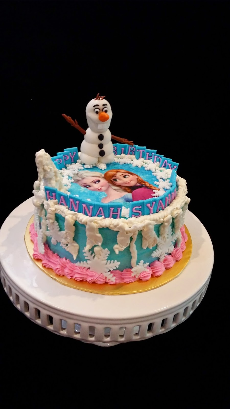Birthday Cake Edible Image Disney : Sweet Creations: Disney Frozen cake with edible for Hannah ...