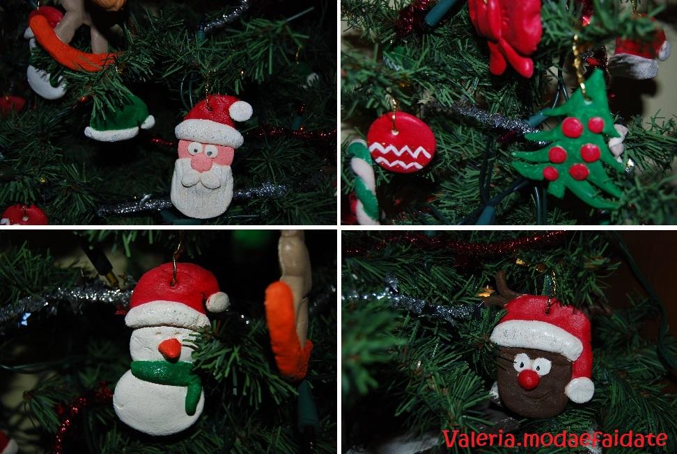 Fabuleux Decorazioni Albero Di Natale Fai Da Te Pasta Di Sale: Decorazioni  JM11
