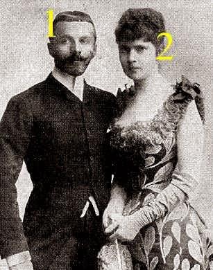 Rudolf von Wrbna-Kaunitz-Rietberg-Questenberg und Freudenthal et Elvira de Bavière
