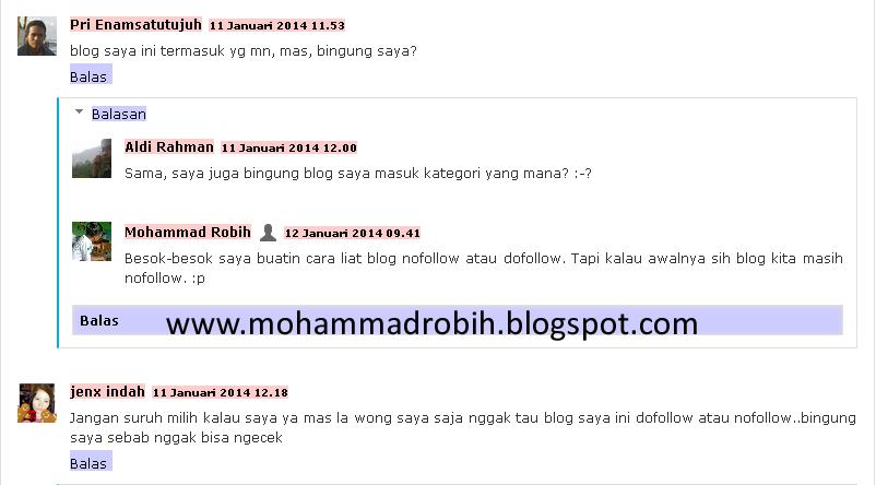 Contoh blog nofollow