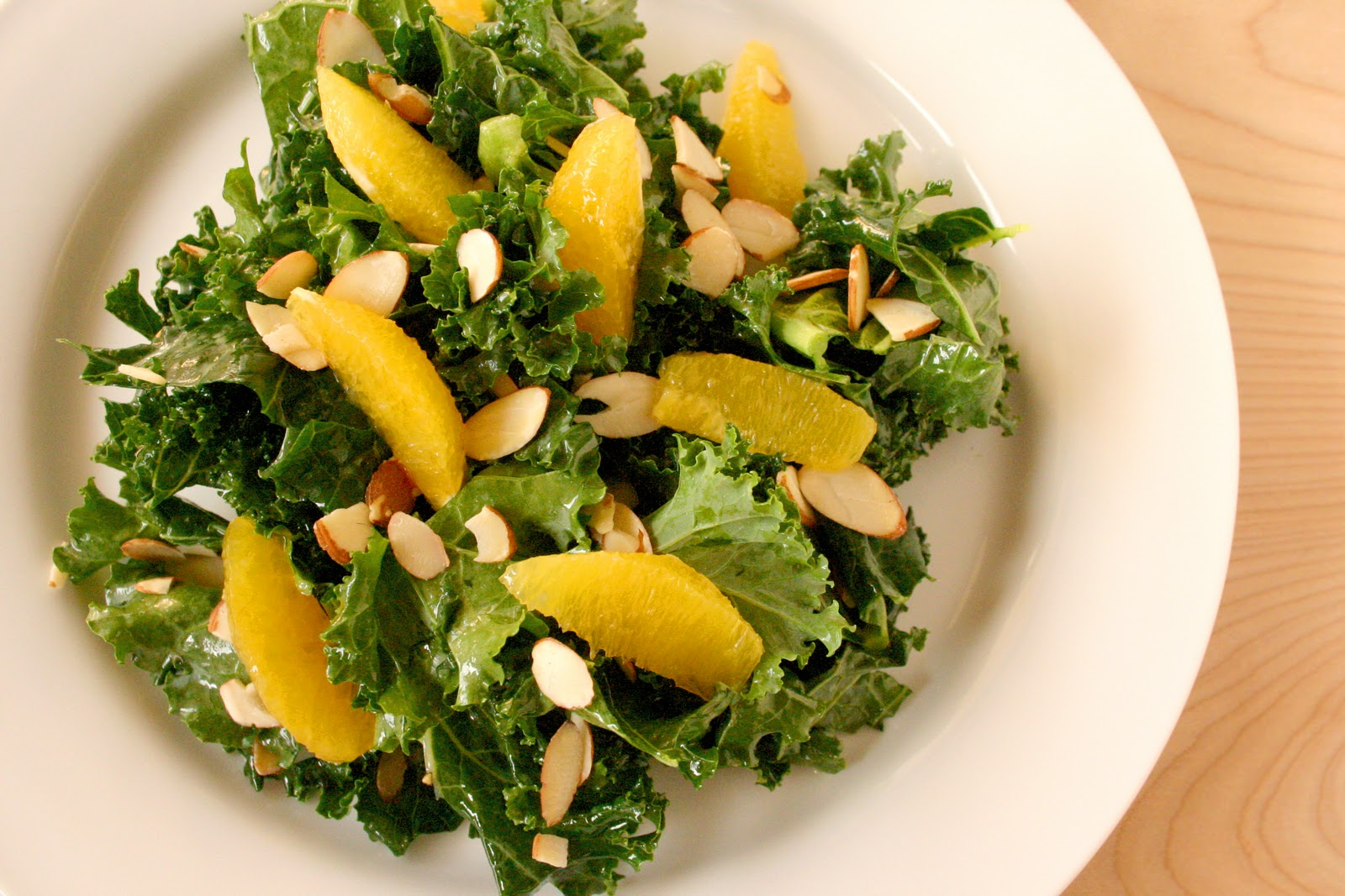 salad with citrus vinaigrette summer lemon lavender chèvre kale salad ...