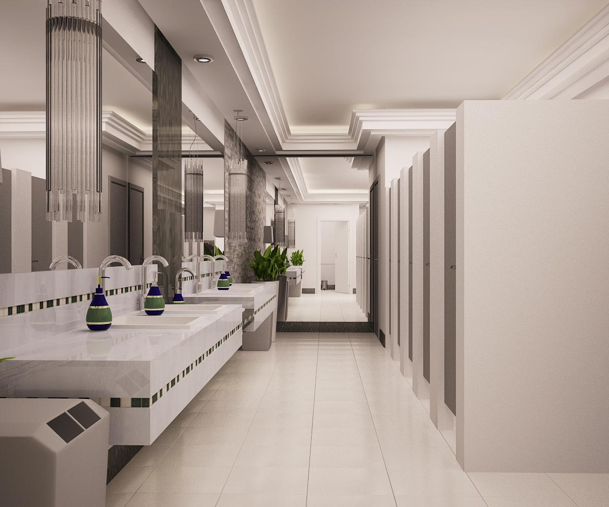 Vänya Lopes Designer de Interiores.: Banheiro publico. #4D5D30 1200 1000