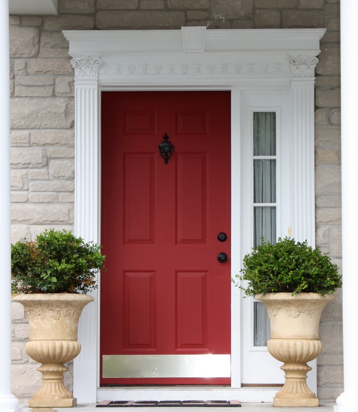 The yellow cape cod tutorial how to get a custom front door and a new window for 100 Best varnish for exterior doors