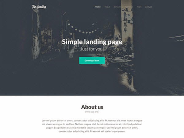 TheLanding - free .psd template