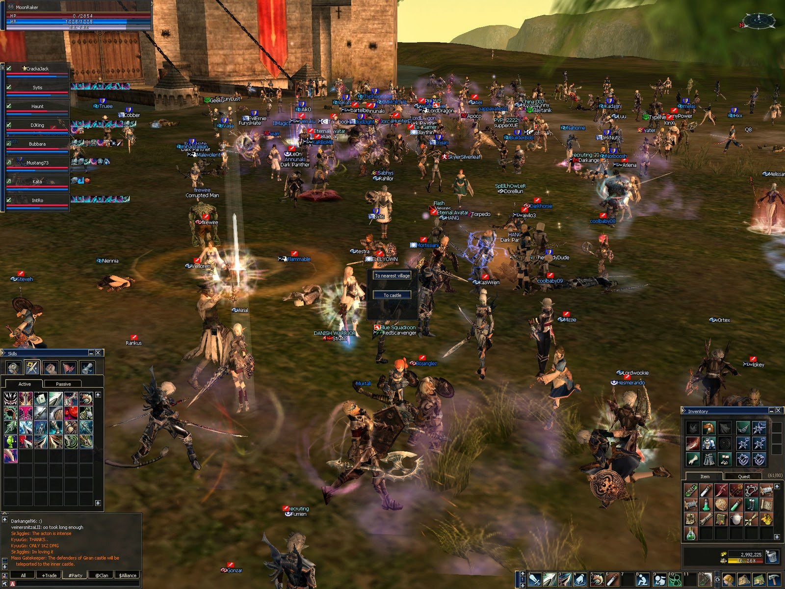 Gameplay Lineage 2 MMORPG Screenshot