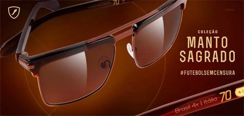 coleção óculos de sol Manto Sagrado Chilli Beans placar de jogos para Copa do Mundo