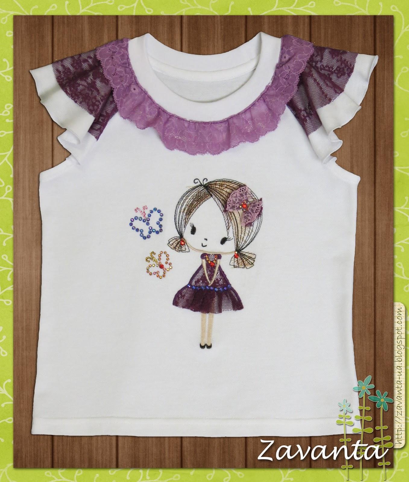 Как сшить футболку для девочки своими