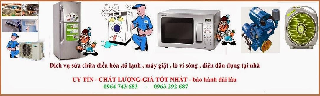 Dịch vụ sửa chữa điều hòa,máy giặt,tủ lạnh,bình nóng lạnh tại nhà ở các quận Hà Nội