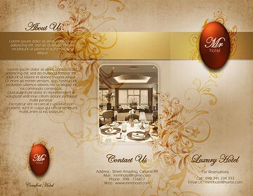Create a Tri-fold Hotel Brochure  Cover Photoshop Tutorial
