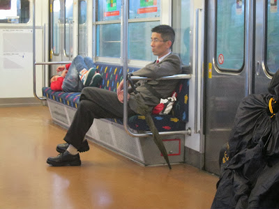 Goofing Off in Japan on a train