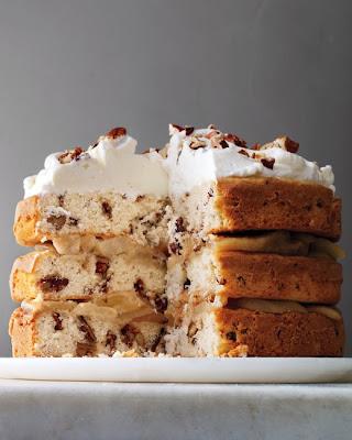 Three Tier Pecan Cake