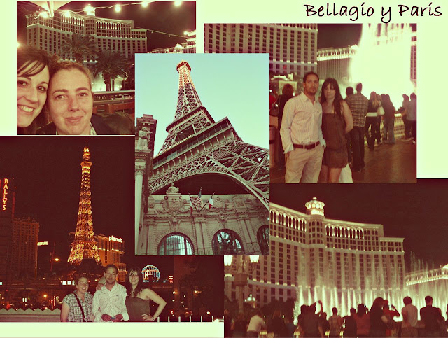 Las Vegas Strip Bellagio Paris hotel fuentes