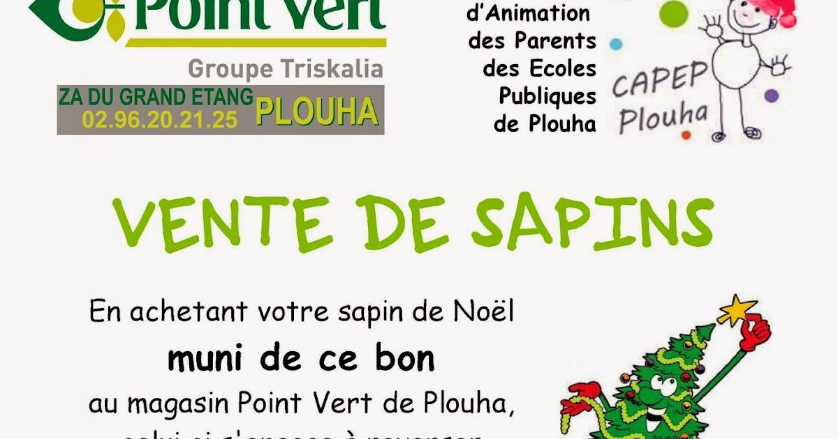 Le comit d 39 animation des ecoles publiques de plouha vous informe vente de sapins de no l - Vente de sapin de noel ...