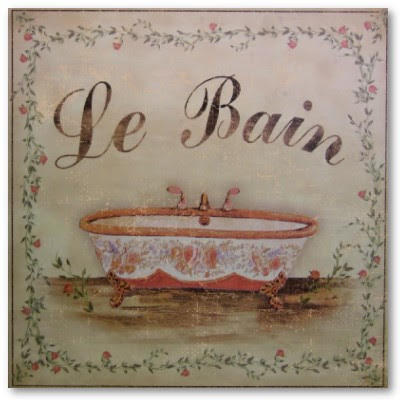 Shabby chic french poster prints i heart shabby chic for Poster pour salle de bain