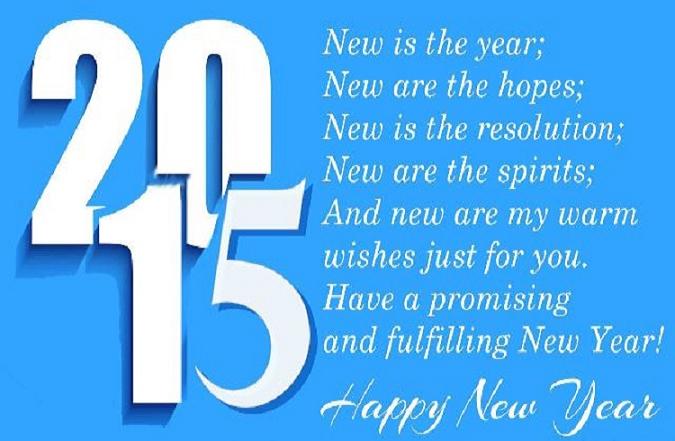 Happy New year 2015 Poem for Whatsapp