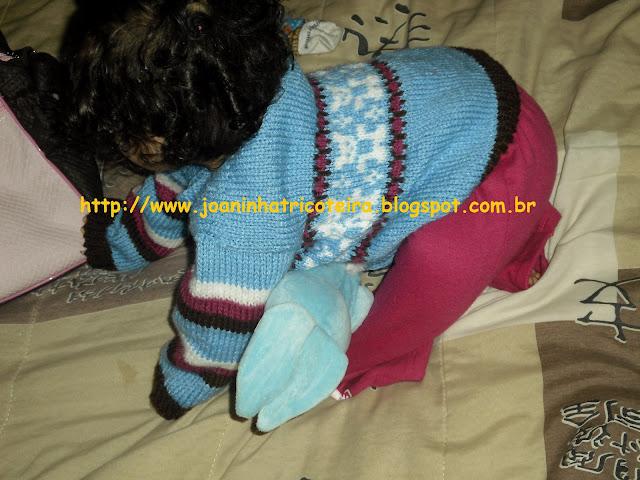 casaquinho de bebê em tricot