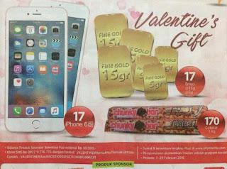 Undian Valentine Fair Alfamart 2016 Berhadiah iPhone6s, emas, dan Coklat 1KG
