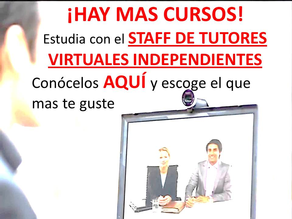Escoge tu tutor virtual personal