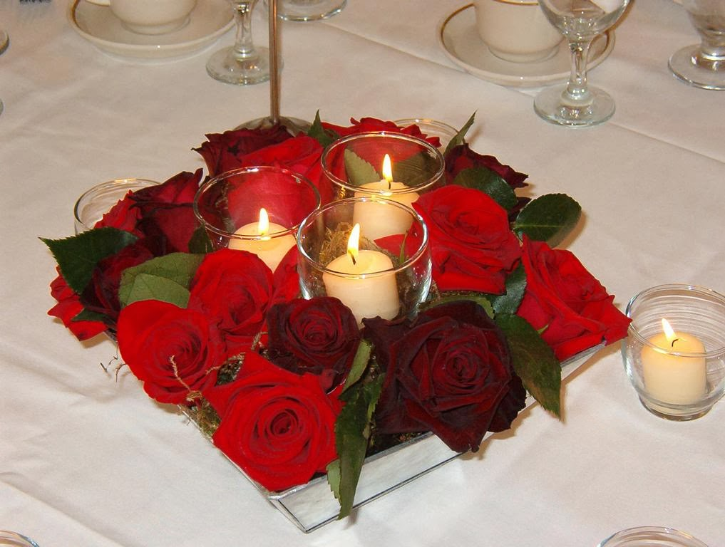 Candles and red roses hd wallpapers