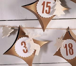 décoration de Noël handmade, comment faire un calendrier de l'avent, petites boîtes de Noël