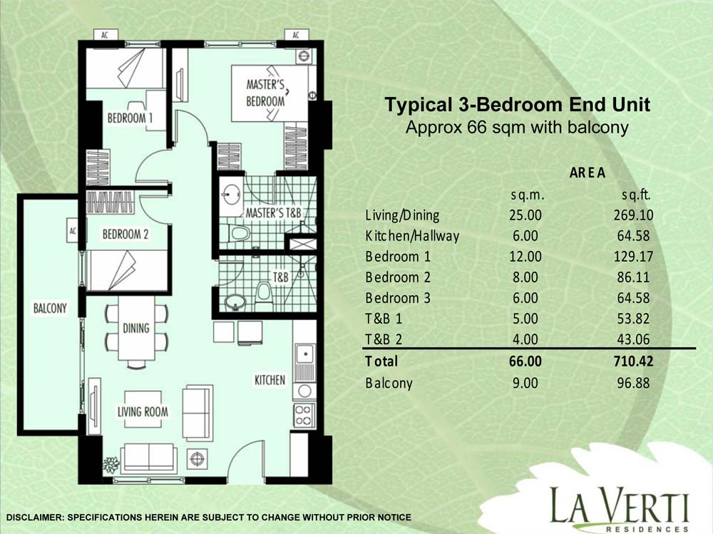 La Verti Residences 3-Bedroom For Sale