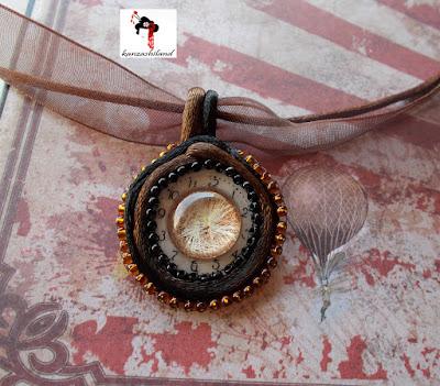 camafeo steampunk Kanzashiland