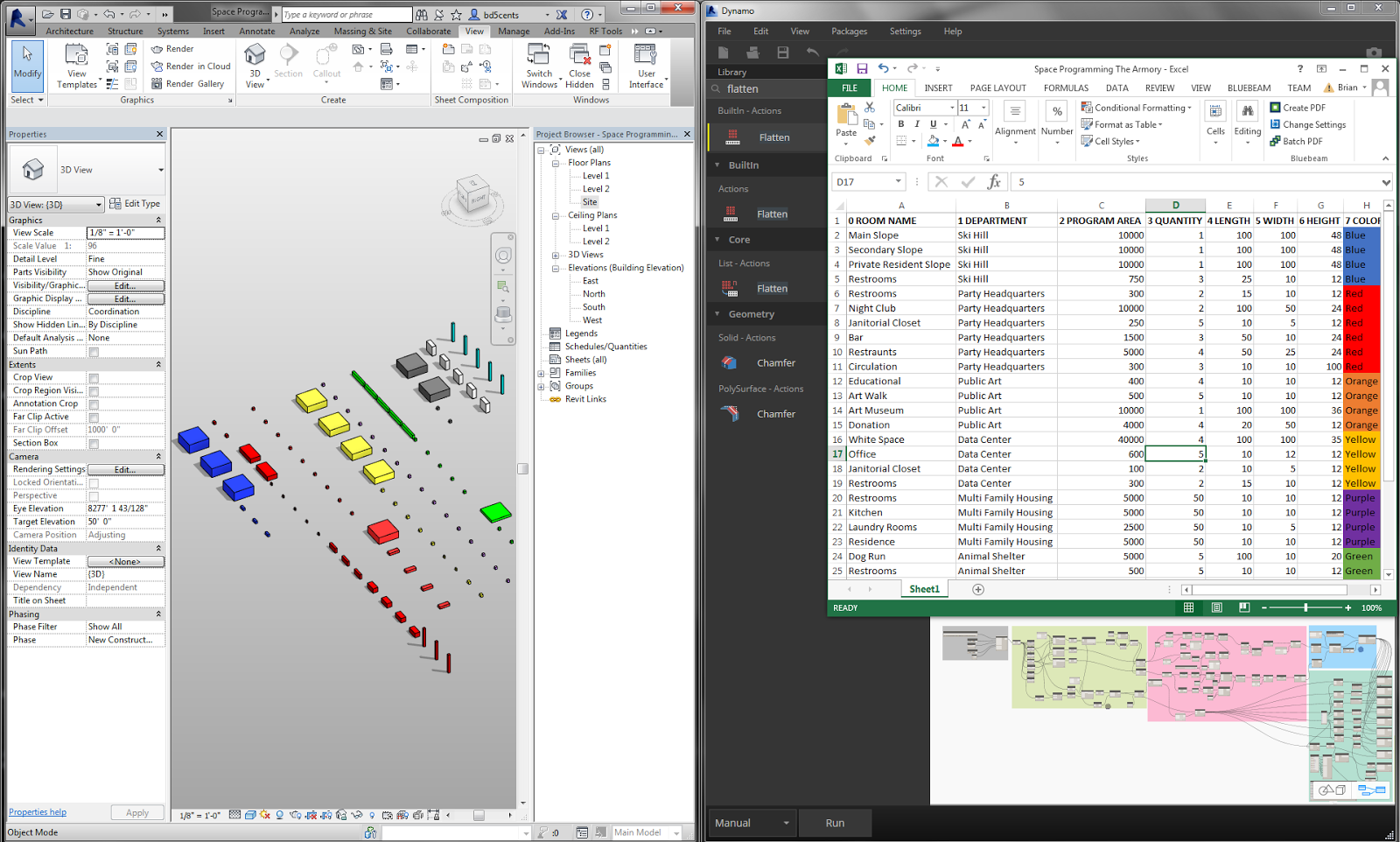 the revit saver: dynamo - space planning dynamobim community