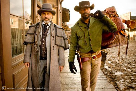 Jamie Foxx e Christoph Waltz em Django Livre