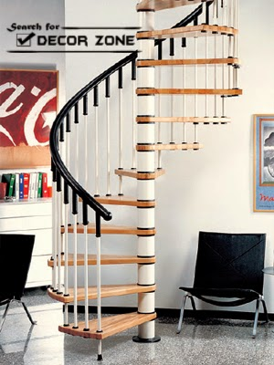 spirals staircase designs with wooden kits for small homes - Staircase Designs For Homes